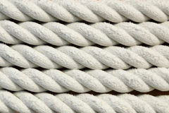White rough rope texture Royalty Free Stock Photo