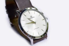 White Round Analog Watch Royalty Free Stock Images