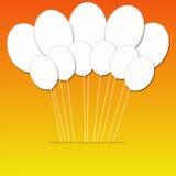 White round balloons on Orange Background Stock Photography