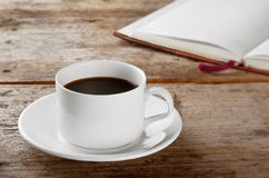 White round cup with black coffee Stock Images