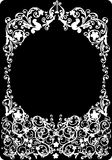 White round frame illustration. Illustration with white round frame Royalty Free Stock Image