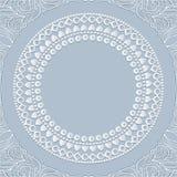White round frame with shadow Royalty Free Stock Photo