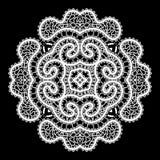 White round lace ornament Stock Photos