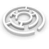 White round maze. Stock Photo