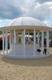 White round pavillion. Stock Image