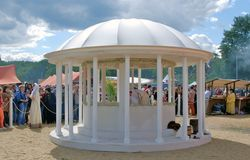 White round pavillion. Stock Photography