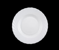 White round plate isolated Stock Photo