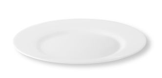 White round plate Royalty Free Stock Photo