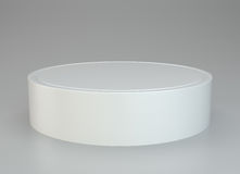 White round podium. Pedestal. Scene. White round podium. Pedestal scene. 3D rendering Royalty Free Stock Photo
