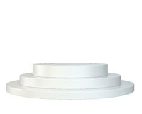 White round podium. Pedestal. Scene. Royalty Free Stock Images