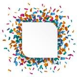 White Round Rectangle Confetti Stock Image