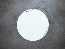 White round tag with silver chain. 3d rendering Stock Photos