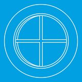 White round window icon outline Royalty Free Stock Images
