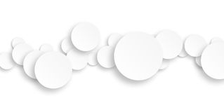 White rounds on white background Royalty Free Stock Photography
