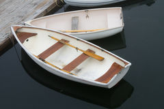 White Row Boats Royalty Free Stock Photography