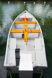 White Rowboat Overhead Royalty Free Stock Photos