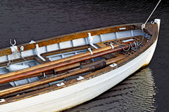White rowing boat Royalty Free Stock Photos