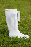 White rubber boot Stock Images