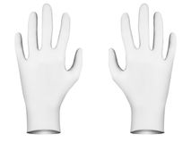 White rubber  gloves Royalty Free Stock Images