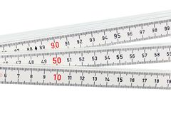 White ruler Stock Photo
