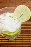 White Rum Cocktail. Caipirinha cocktail with limes ,white rum, sugar and ice Stock Images