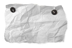 White rumpled paper Royalty Free Stock Images