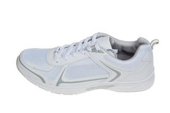 White running shoe, isolated on white Stock Photos