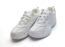 White Running Shoes Royalty Free Stock Photos