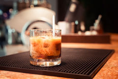 White russian cocktail Stock Photography