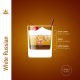 White Russian cocktail Stock Image