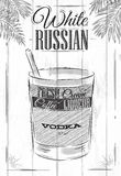 White russian cocktail Stock Images
