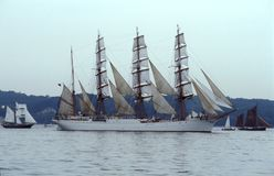 White Russian sailship Sedov stock photos