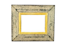 White Rustic Picture Frame Royalty Free Stock Image