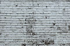 White Rustic Texture. Retro Whitewashed Old Brick Wall Surface. Vintage Structure. Grungy Shabby Uneven Painted Plaster. Whiten. Facade Background. Design royalty free stock photography