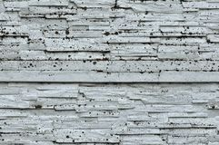 White Rustic Texture. Retro Whitewashed Old Brick Wall Surface. Vintage Structure. Grungy Shabby Uneven Painted Plaster. Whiten. Facade Background. Design royalty free stock images