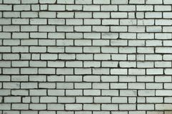 White Rustic Texture. Retro Whitewashed Old Brick Wall Surface. Vintage Structure. Grungy Shabby Uneven Painted Plaster. Whiten. Facade Background. Design stock photo