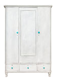 White rustic wardrobe isolated Stock Images