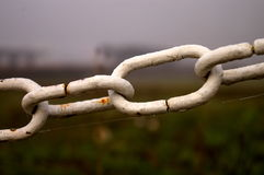 White rusty chain Royalty Free Stock Photo