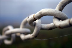 White rusty chain Royalty Free Stock Photos
