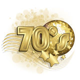 White 70s. White and gold 70s background vector illustration