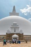 White sacred stupa, Anuradhapura, Sri Lanka stock images