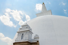 White sacred stupa, Anuradhapura, Sri Lanka Royalty Free Stock Photography