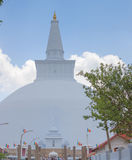 White sacred stupa Ruwanmalisaya dagoba in Anuradhapura, Sri Lan Stock Photo