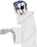 White sad clown Royalty Free Stock Image