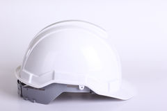 White safety hat Stock Images