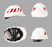 White safety helmet. Construction hard hat. Stock Photography