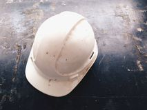 white safety helmets Royalty Free Stock Photos