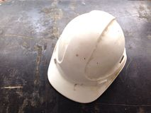 White safety helmets Stock Images