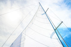 White sail Stock Photos