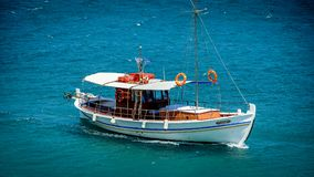 White Sail Boat On Sea Royalty Free Stock Images